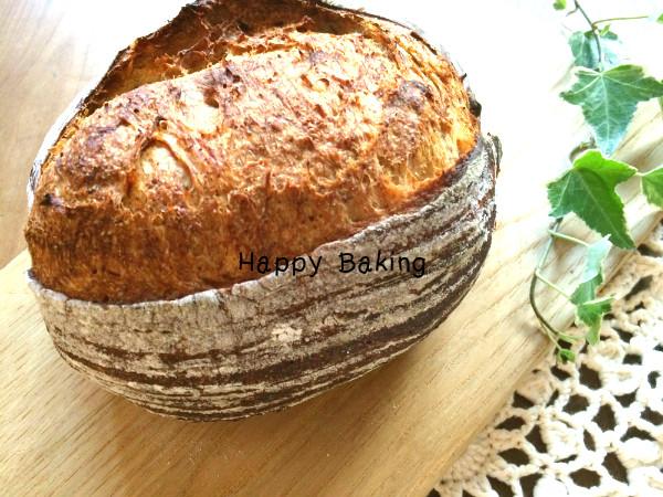 自家製天然酵母パン《パン・ド・カンパーニュ》を夕食に♪【フルーツ酵母・自家製天然酵母・パン教室|大阪・奈良】