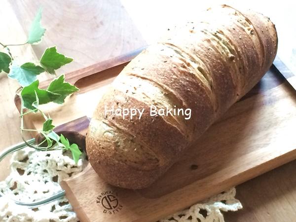 セサミブレッド♪焼きたての自家製天然酵母パンを夕食に♡【フルーツ酵母・自家製天然酵母・パン教室|大阪・奈良】